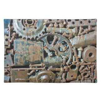 Industrial Gear Texture Cloth Placemat