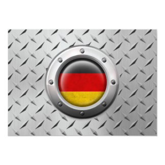 Industrial German Flag with Steel Graphic Card