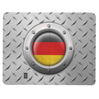 Industrial German Flag with Steel Graphic Journal