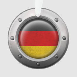 Industrial German Flag with Steel Graphic Ornament