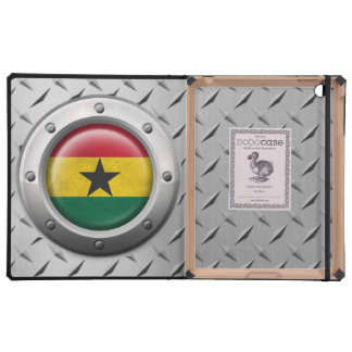 Industrial Ghana Flag with Steel Graphic iPad Folio Cases