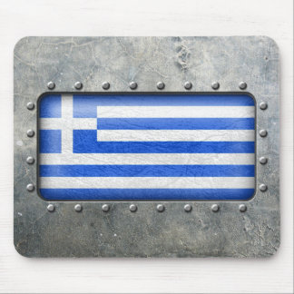 Industrial Greek Flag Mouse Pad