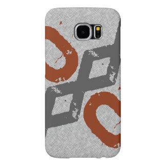 Industrial grey orange samsung galaxy s6 case