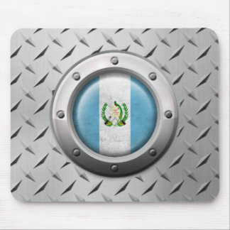 Industrial Guatemalan Flag with Steel Graphic Mouse Pad