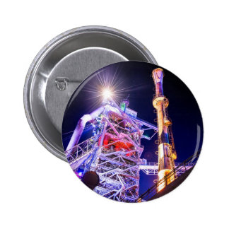Industrial HDR photography - Steel Plant 1 Pinback Button