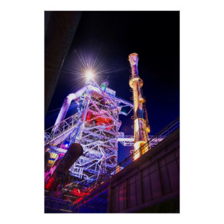 Industrial HDR photography - Steel Plant 1 Print