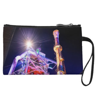 Industrial HDR photography - Steel Plant 1 Wristlet Wallet