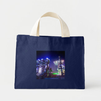 Industrial HDR photography - Steel Plant 2 Mini Tote Bag
