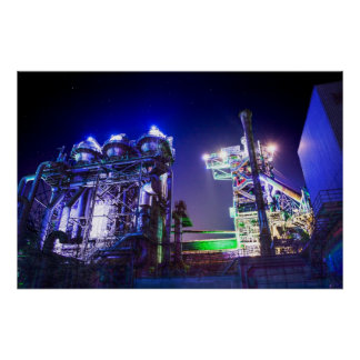 Industrial HDR photography - Steel Plant 2 Poster