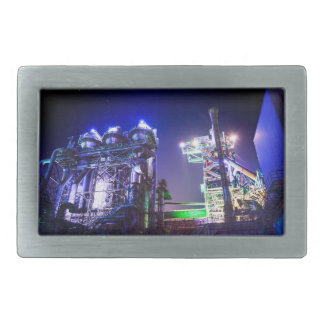 Industrial HDR photography - Steel Plant 2 Rectangular Belt Buckle