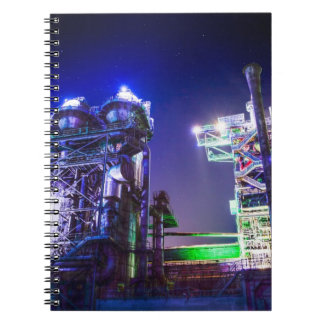 Industrial HDR photography - Steel Plant 2 Spiral Notebook