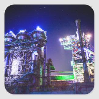 Industrial HDR photography - Steel Plant 2 Square Sticker