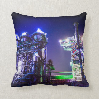 Industrial HDR photography - Steel Plant 2 Throw Pillow