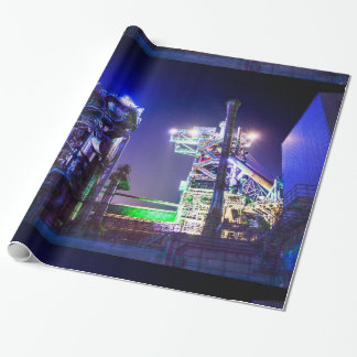 Industrial HDR photography - Steel Plant 2 Wrapping Paper
