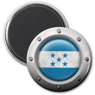 Industrial Honduras Flag with Steel Graphic Fridge Magnets