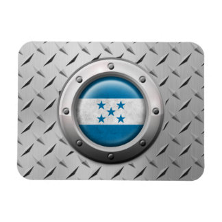 Industrial Honduras Flag with Steel Graphic Rectangle Magnets