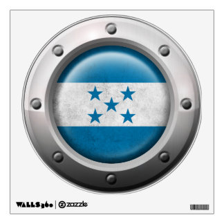 Industrial Honduras Flag with Steel Graphic Wall Sticker