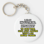 Industrial Hygienist Joke .. Never Wrong Key Chain