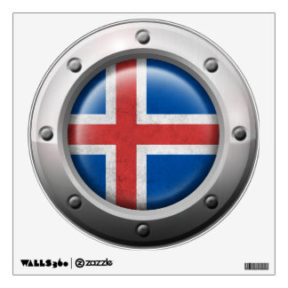 Industrial Icelandic Flag with Steel Graphic Wall Sticker