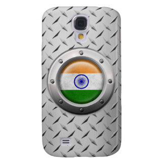 Industrial Indian Flag with Steel Graphic Galaxy S4 Cover