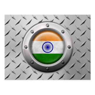 Industrial Indian Flag with Steel Graphic Post Cards