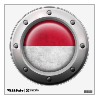 Industrial Indonesian Flag with Steel Graphic Wall Sticker