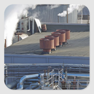 Industrial infrastructure, buildings and pipeline square sticker