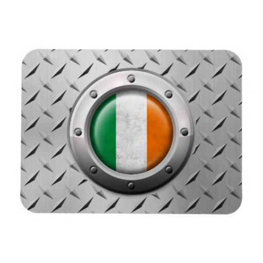 Industrial Irish Flag with Steel Graphic Rectangle Magnets