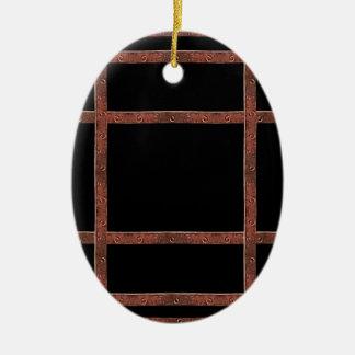 Industrial Iron Grid Ceramic Ornament