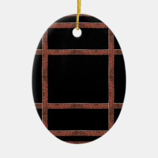 Industrial Iron Grid Ornaments