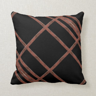 Industrial Iron Grid Throw Pillow