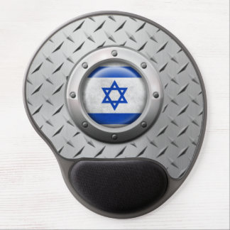 Industrial Israeli Flag with Steel Graphic Gel Mouse Pad