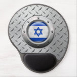 Industrial Israeli Flag with Steel Graphic Gel Mouse Mat