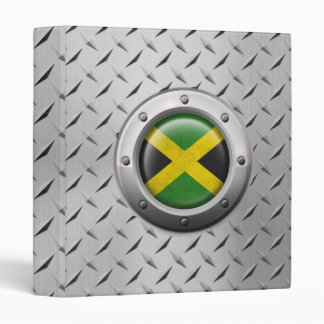 Industrial Jamaican Flag with Steel Graphic 3 Ring Binders