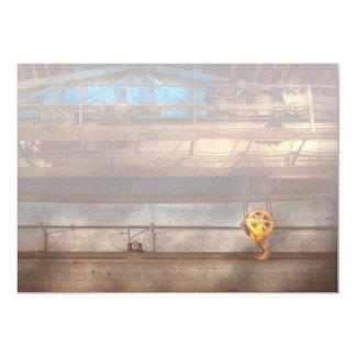 Industrial - la grúa de pórtico invitación 12,7 x 17,8 cm