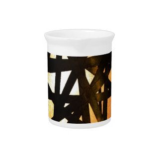 Industrial Lamp Metal Abstract Pitcher