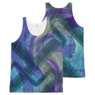 Industrial Landscape Abstract All Over Print Tank