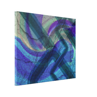 Industrial Landscape Abstract stretched canvas