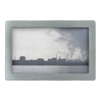 Industrial landscape along the coast Air polluting Belt Buckle