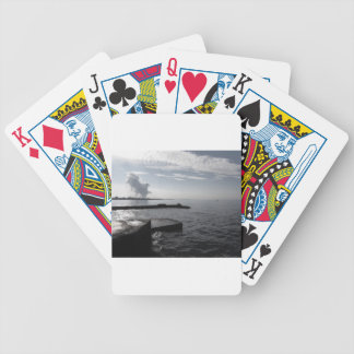 Industrial landscape along the coast Air polluting Bicycle Playing Cards