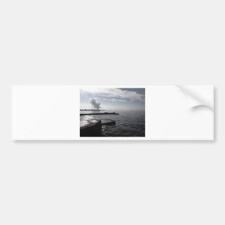 Industrial landscape along the coast Air polluting Bumper Sticker
