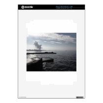 Industrial landscape along the coast Air polluting Decal For iPad 2