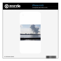 Industrial landscape along the coast Air polluting Decal For iPhone 4