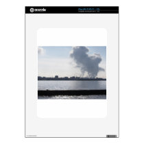 Industrial landscape along the coast Air polluting Decal For The iPad