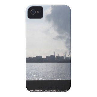 Industrial landscape along the coast Air polluting iPhone 4 Cover