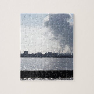 Industrial landscape along the coast Air polluting Jigsaw Puzzle