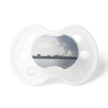 Industrial landscape along the coast Air polluting Pacifier