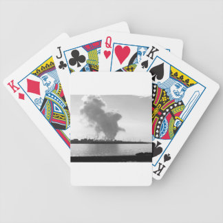 Industrial landscape along the coast bicycle playing cards