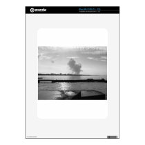 Industrial landscape along the coast decal for iPad