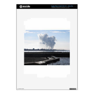 Industrial landscape along the coast decal for iPad 3